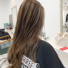 デート 簡単スタイリング ナチュラル バレイヤージュ ヘアスタイルや髪型の写真・画像