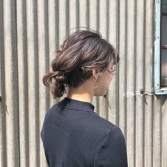 簡単ヘアアレンジ お団子 ガーリー パーティ ヘアスタイルや髪型の写真・画像