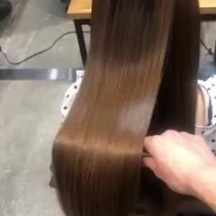 ツヤツヤ サイエンスアクア ナチュラル 髪質改善 ヘアスタイルや髪型の写真・画像