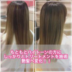 髪質改善カラー 大人ロング うる艶カラー 髪質改善 ヘアスタイルや髪型の写真・画像