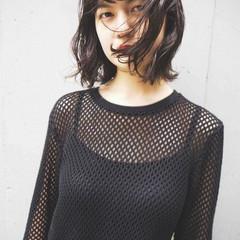 アンニュイほつれヘア ボブ ナチュラル 黒髪 ヘアスタイルや髪型の写真・画像