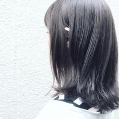 ミディアム 外国人風 ボブ 暗髪 ヘアスタイルや髪型の写真・画像