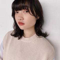 ピュア ミディアム 春 アンニュイ ヘアスタイルや髪型の写真・画像