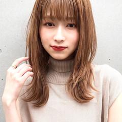 セミロング 大人かわいい ヘアアレンジ デジタルパーマ ヘアスタイルや髪型の写真・画像