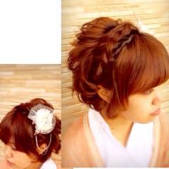 ヘアアレンジ ショート 簡単ヘアアレンジ モテ髪 ヘアスタイルや髪型の写真・画像