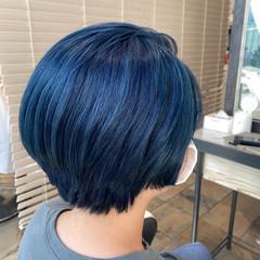 ダブルカラー ハイトーンカラー ショートヘア ショート ヘアスタイルや髪型の写真・画像