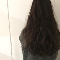 暗髪 ハイライト 外国人風 ロング ヘアスタイルや髪型の写真・画像