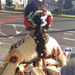 成人式ヘア ヘアアレンジ 成人式ヘアメイク着付け ナチュラル ヘアスタイルや髪型の写真・画像