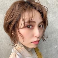 フェミニン 切りっぱなしボブ ミニボブ ベリーショート ヘアスタイルや髪型の写真・画像