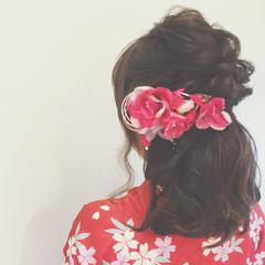 ミディアム ゆるふわ 大人かわいい ヘアアレンジ ヘアスタイルや髪型の写真・画像