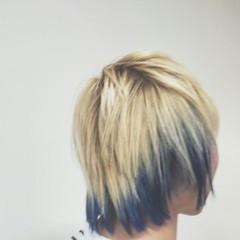 ビビッドカラー ショート ストリート 外国人風 ヘアスタイルや髪型の写真・画像