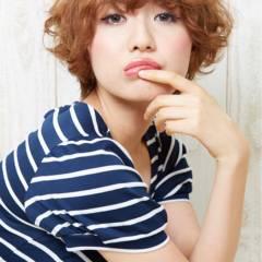 外国人風 モテ髪 ガーリー ショート ヘアスタイルや髪型の写真・画像