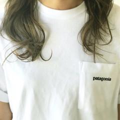アウトドア グラデーションカラー 夏 大人かわいい ヘアスタイルや髪型の写真・画像