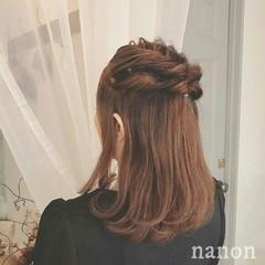 透明感 セミロング 夏 ヘアアレンジ ヘアスタイルや髪型の写真・画像