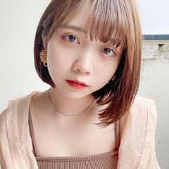 縮毛矯正 韓国ヘア ストレート 縮毛矯正ストカール ヘアスタイルや髪型の写真・画像