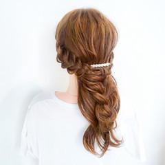 結婚式 エレガント 簡単ヘアアレンジ ヘアアレンジ ヘアスタイルや髪型の写真・画像