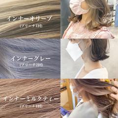 ミニボブ 切りっぱなしボブ ナチュラル アッシュ ヘアスタイルや髪型の写真・画像