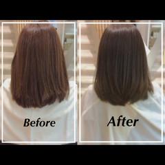 艶髪 大人ヘアスタイル 髪質改善 セミロング ヘアスタイルや髪型の写真・画像