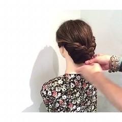 色気 涼しげ 簡単ヘアアレンジ 夏 ヘアスタイルや髪型の写真・画像