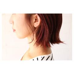 イルミナカラー ピンク 大人女子 モード ヘアスタイルや髪型の写真・画像