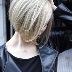 モード ブリーチカラー 外国人風 ミニボブ ヘアスタイルや髪型の写真・画像