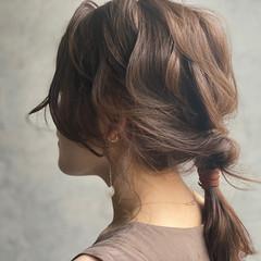大人かわいい セミロング セルフヘアアレンジ ヘアアレンジ ヘアスタイルや髪型の写真・画像