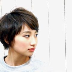 ニュアンス ナチュラル ショート 小顔 ヘアスタイルや髪型の写真・画像