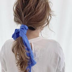 ナチュラル 透明感カラー ふわふわヘアアレンジ レイヤーカット ヘアスタイルや髪型の写真・画像