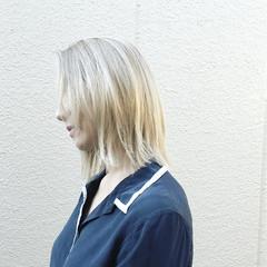 ボブ ロブ ハイライト 外国人風 ヘアスタイルや髪型の写真・画像