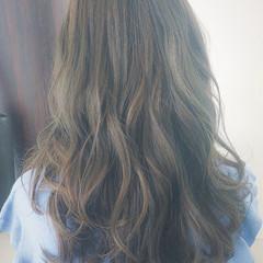 外国人風 グラデーションカラー ロング ナチュラル ヘアスタイルや髪型の写真・画像