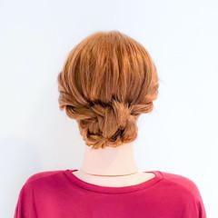 ねじり ロング フェミニン 簡単ヘアアレンジ ヘアスタイルや髪型の写真・画像