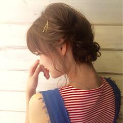 二次会 ミディアム 結婚式 簡単ヘアアレンジ ヘアスタイルや髪型の写真・画像