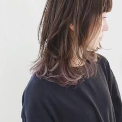 ラベンダーアッシュ バレイヤージュ 外国人風カラー ラベンダー ヘアスタイルや髪型の写真・画像