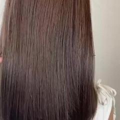 ナチュラル ロング 縮毛矯正 髪質改善トリートメント ヘアスタイルや髪型の写真・画像