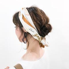 ヘアアレンジ ミディアム 外国人風 簡単ヘアアレンジ ヘアスタイルや髪型の写真・画像