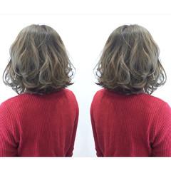 アッシュ ボブ ゆるふわ ナチュラル ヘアスタイルや髪型の写真・画像