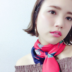 グラデーションカラー 外国人風 色気 外ハネ ヘアスタイルや髪型の写真・画像