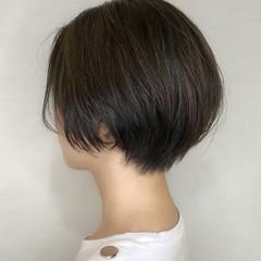 小顔ショート ショートボブ ハンサム ショート ヘアスタイルや髪型の写真・画像