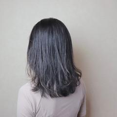 黒髪 イルミナカラー アッシュ オフィス ヘアスタイルや髪型の写真・画像