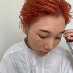 ショート モード オールバック ヘアスタイルや髪型の写真・画像