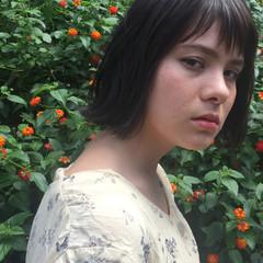 N.オイル 外国人風 シースルーバング ボブ ヘアスタイルや髪型の写真・画像