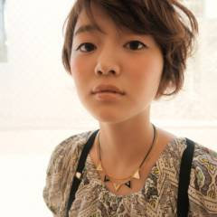 ナチュラル ショート モテ髪 ヘアアレンジ ヘアスタイルや髪型の写真・画像