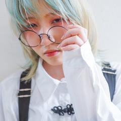 ハイトーン ハイトーンカラー セミロング モード ヘアスタイルや髪型の写真・画像