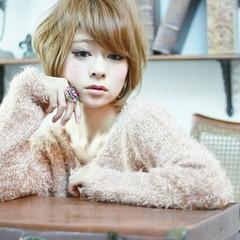 フェミニン 大人かわいい ハイライト ガーリー ヘアスタイルや髪型の写真・画像