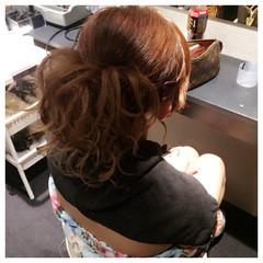 大人かわいい ヘアアレンジ セミロング 裏編み込み ヘアスタイルや髪型の写真・画像