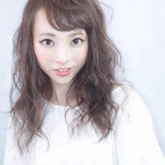 前髪あり 大人かわいい 夏 涼しげ ヘアスタイルや髪型の写真・画像
