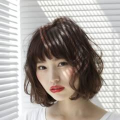 ゆるふわ ストリート ガーリー ボブ ヘアスタイルや髪型の写真・画像