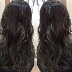 ハイライト アッシュ 外国人風 ロング ヘアスタイルや髪型の写真・画像