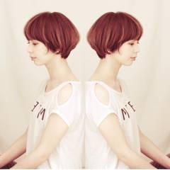 ナチュラル 春 ショート ヘアスタイルや髪型の写真・画像