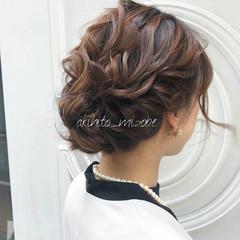 ヘアセット ナチュラル 結婚式ヘアアレンジ 結婚式髪型 ヘアスタイルや髪型の写真・画像